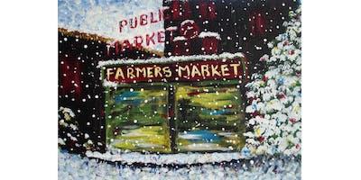 11/18 - Pike Place Market in Snow @ Ballard Pizza Co, Seattle