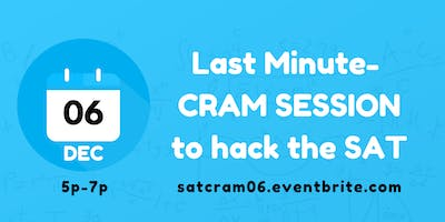SAT CRAM SESSION (DEC)