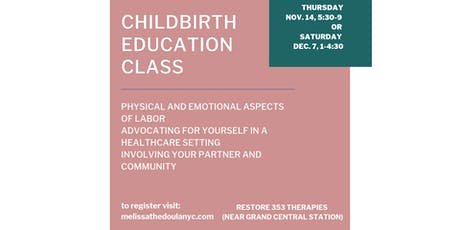 Childbirth Education Class tickets