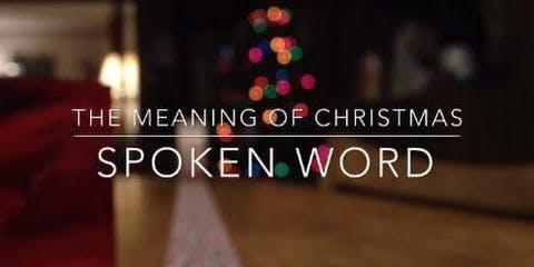 SPOKEN WORD MEANING OF CHRISTMAS Dinner & Music