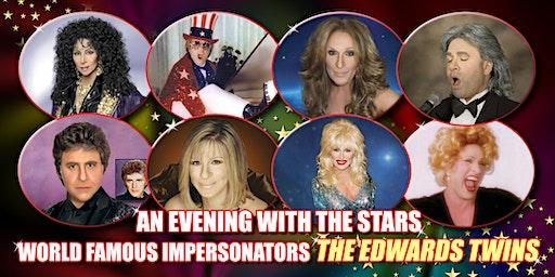 Cher, Elton, Celine Dion, Streisand Vegas Edwards Twins Impersonators