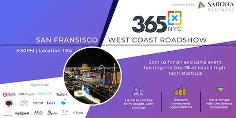 365x Roadshow in San Fran: Meet the top 1% of Israeli high-tech startups billets