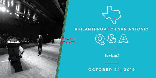 Philanthropitch San Antonio 2020 Application Virtual Q&A