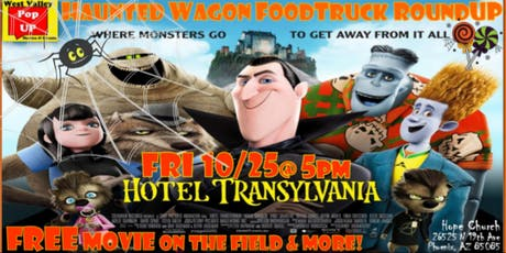 A Haunted Wagon Food Truck RoundUP, FREE Movie on the Field & More! Fri 10/25 tickets