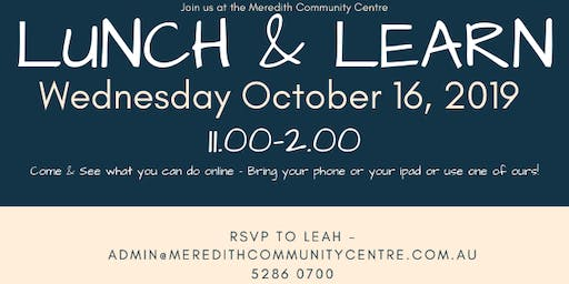 Lunch & Learn - Meredith Community Centre