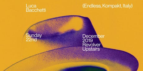 Stable Series with Luca Bacchetti (Endless / Kompakt, Italy) tickets