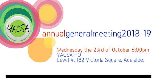 YACSA Annual General Meeting 2018-19