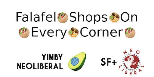 Falafel shops on every corner