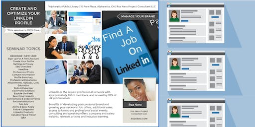 FREE-Create and Optimize Your LinkedIn Profile|Find A Job|Grow Your Network