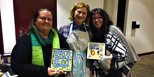 Christmas gift making mosaic class at Victoria Park Centre for the Arts
