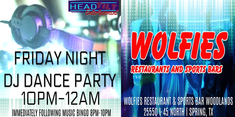 Friday Night Dj Dance Party At Wolfies Restaurant Bar