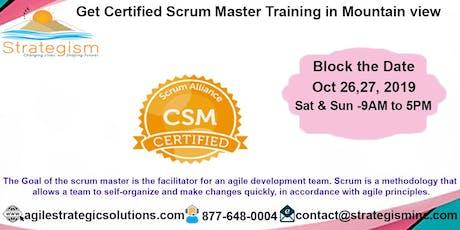 Certified Scrum Master (CSM) Training in Mountain View-Oct 26,27-2019 tickets