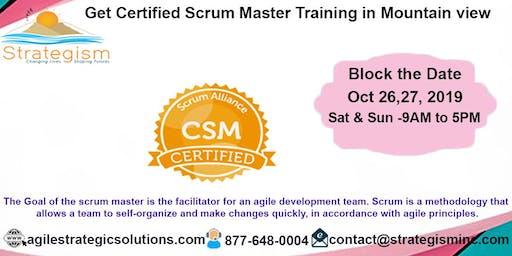 Certified Scrum Master (CSM) Training in Mountain View-Oct 26,27-2019