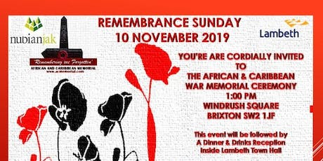 Nubian Jak Community Trust - AC Memorial - Remembrance Day Dinner and Film Screening - HERO tickets