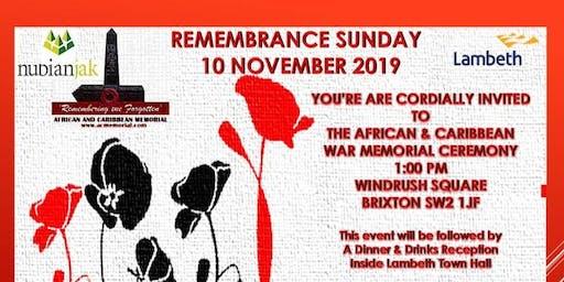 Nubian Jak Community Trust - AC Memorial - Remembrance Day Dinner and Film Screening - HERO