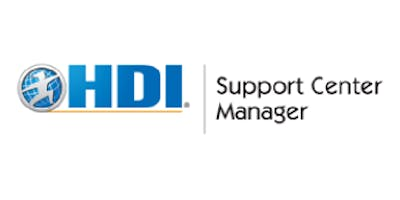 HDI Support Center Manager 3 Days Virtual Live Training in Rome