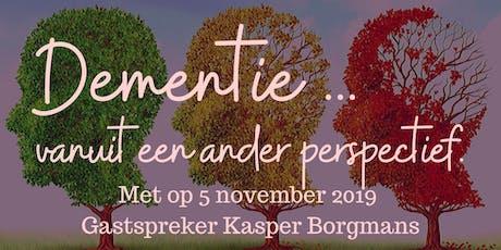 Dementie vanuit een ander perspectief met gastlezing Kasper Borgmans. tickets