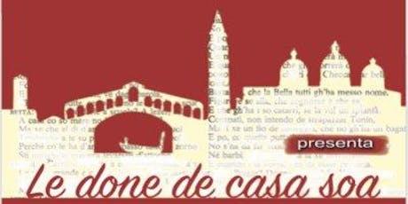 """La compagnia """"Teatro Insieme"""" di Sarzano:""""Le done de casa soa"""" di Goldoni biglietti"""
