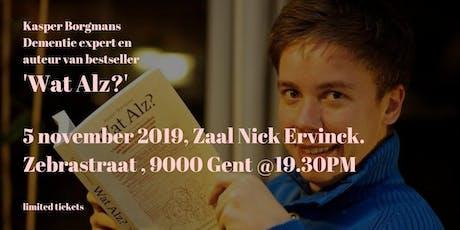 Lezing van bestseller auteur en expert Kasper Borgmans: 'Wat Alz?' billets
