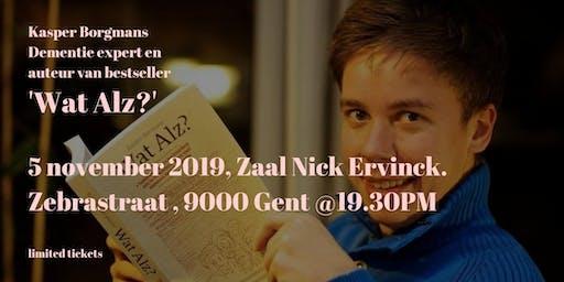 Lezing van bestseller auteur en expert Kasper Borgmans: 'Wat Alz?'