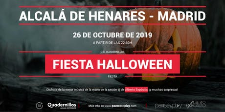 Fiesta Halloween en Pause&Play Quadernillos entradas
