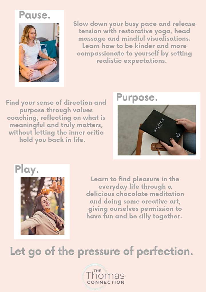 Pause - Purpose - Play, a day retreat for busy highstriving people image