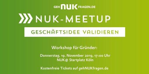 """Prüfe Deine Geschäftsidee""   NUK-Meetup"
