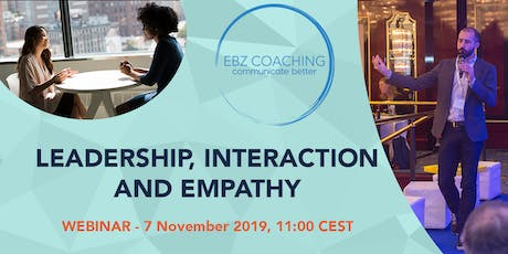 Leadership, Interaction and Empathy - Webinar tickets