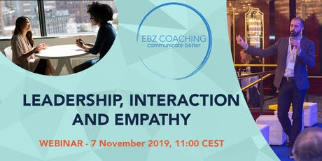 Leadership, Interaction and Empathy - Webinar Tickets