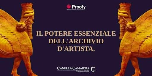 Il potere essenziale dell'Archivio d'Artista