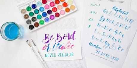 Watercolour Brush Lettering Workshop in Leeds tickets