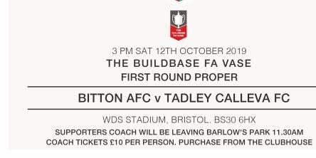Tadley Calleva FC - FA VASE COACH