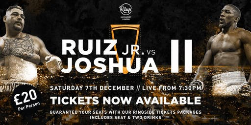 Andy Ruiz Jr v Anthony Joshua