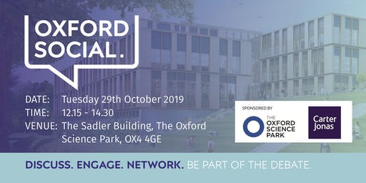 Oxford Social - 29 October 2019