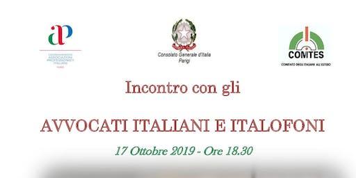 Incontro Avvocati italiani e Italofoni