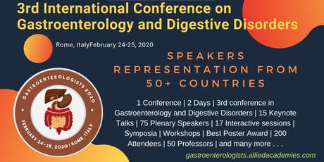 3rd International Conference on Gastroenterology and Digestive Disorders biglietti