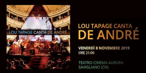 Lou Tapage canta de André