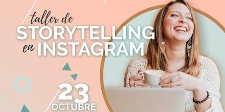 Taller presencial de Storytelling en Instagram: crea contenido que venda entradas