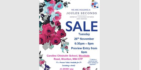 Joules Seconds Sale - Caroline Chisholm School tickets