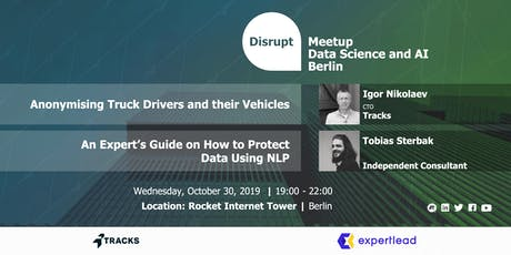Data Protection for Data Scientists tickets