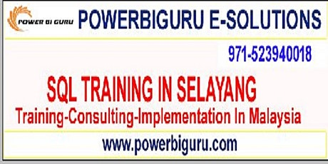 Microsoft SQL training in SELAYANG, Malaysia Tickets