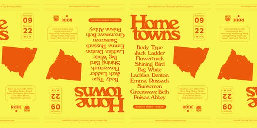 Hometowns | Mona Vale with Jack Ladder, Body Type, Liars (DJ), Poison Abbey and Babey