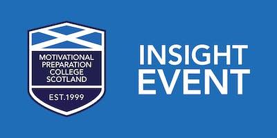 Motivational  Preperation College Scotland `Insight Event - Glasgow