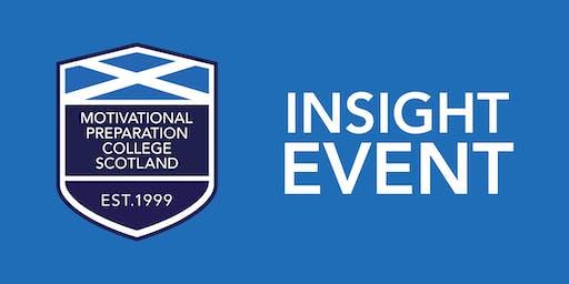 Motivational  Preparation College Scotland `Insight Event - Glasgow