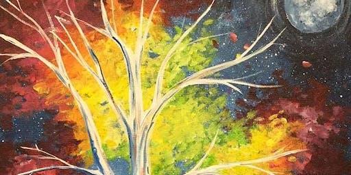 Cosmic Tree Paint'n'Sip Party Moranbah
