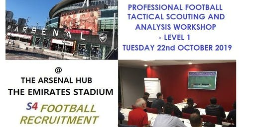 PROFESSIONAL FOOTBALL TACTICAL SCOUTING AND ANALYSIS WORKSHOP