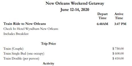 Weekend Getaway tickets