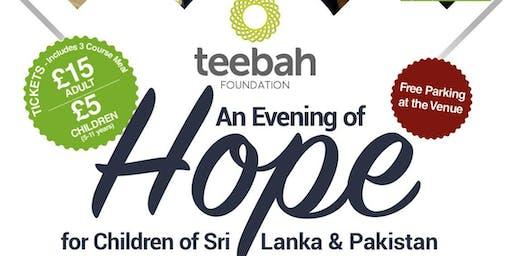 An Evening of Hope for Children of Sri Lanka & Pakistan.