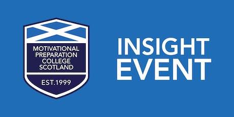 Motivational Preparation College Scotland `Insight Event  - Edinburgh tickets