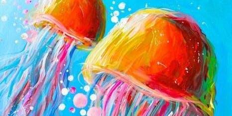 Jellyfish Paint'n'Sip Party Moranbah